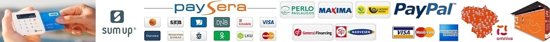 Atsiskaitymas internetine bankininkyste, pavedimu ir kortele, PayPal ar grynais!